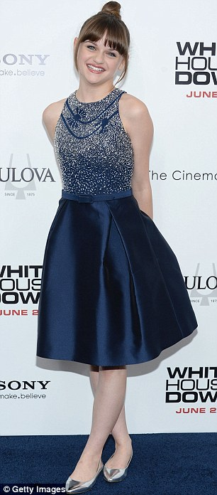 Fabulous frocks: Actresses Megan Hilty and Joey King looked great in their dresses