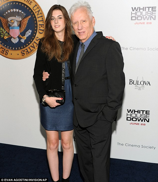 Film fans: Actor James Woods and a young female guest attended together