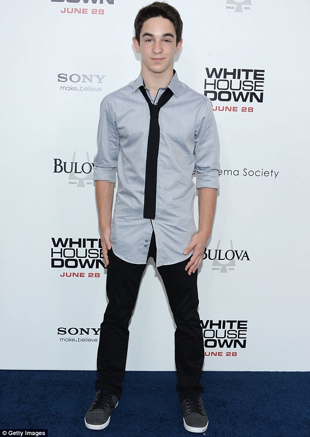 Youthful style: Zack Gordon dressed casually for the event in trainers and an untucked shirt