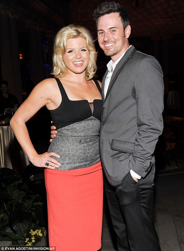 Smash-ing couple! Actress Megan Hilty and boyfriend Brian Gallagher posed together at the bash