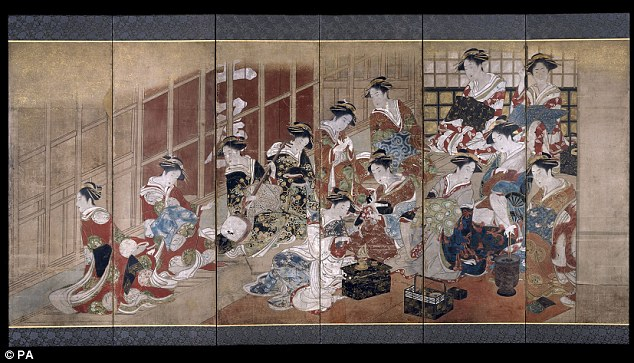 Explicit: Courtesans of the Tamaya House, by Utagawa Toyoharu is part of the exhibition on sex in Japanese art