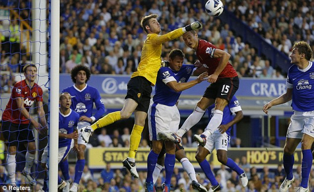 Packing a punch: De Gea became more adept at dealing with crosses last season