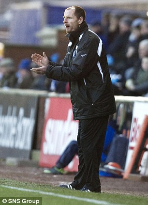 Allan Johnston on the touchline as manager of Queen of the South last season