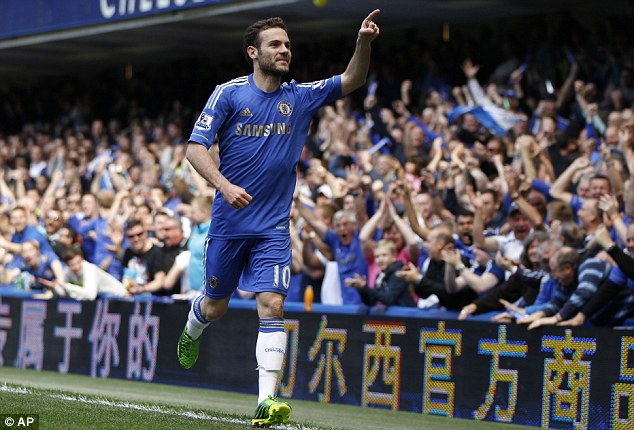 I love the club: Mata won't be leaving anytime soon, despite competition from Schurrle (below left) and De Bruyn