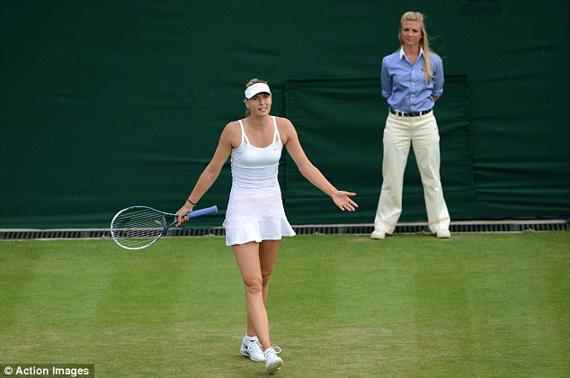Complaint: Sharapova made the umpire aware of her feelings about the court