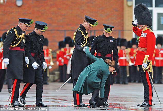 The Duchess of Cambridge gets her heel stuck in a grate in March