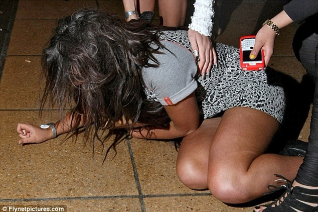 Geordie Shore's Charlotte Letitia-Crosby falls over her heels on a night out