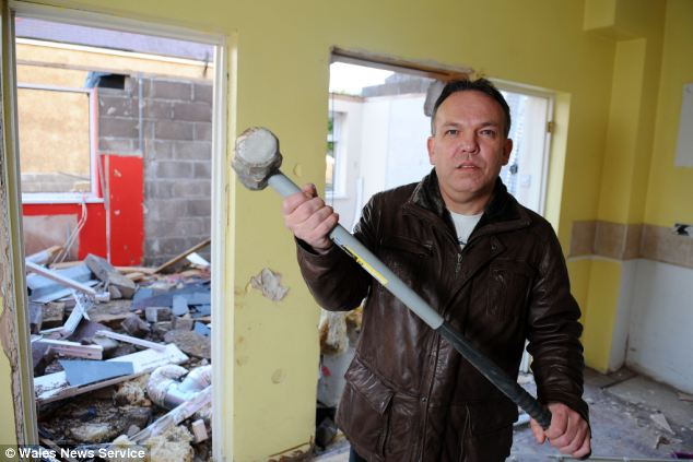 McGuire caused £126,000 of damage to the house after he was left fuming when his father left the home to his brother Terry