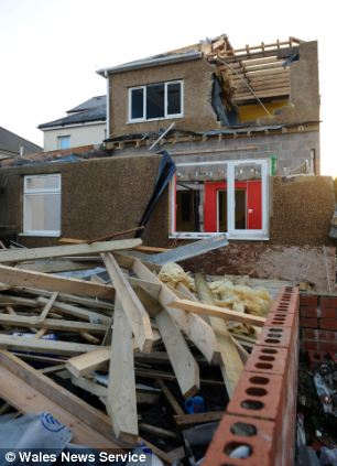 The court heard he took a sledgehammer to the family home while he was watched by astonished neighbours