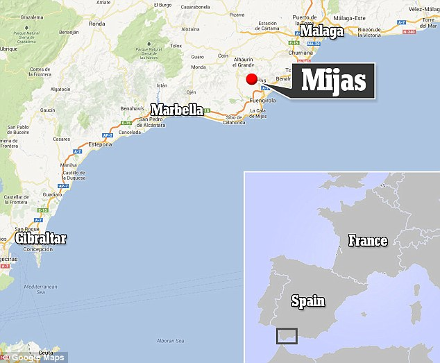 Resort: This map shows the location of Mijas within Spain
