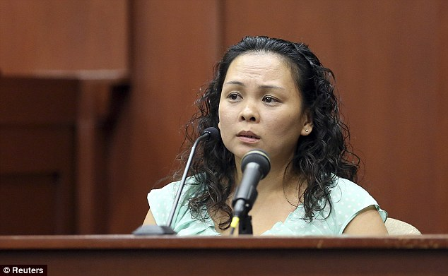 Neighbor: Witness Jeannee Manalo testified that she believed Zimmerman was on top of Martin and also described hearing howling, but she couldn't tell who it was coming from