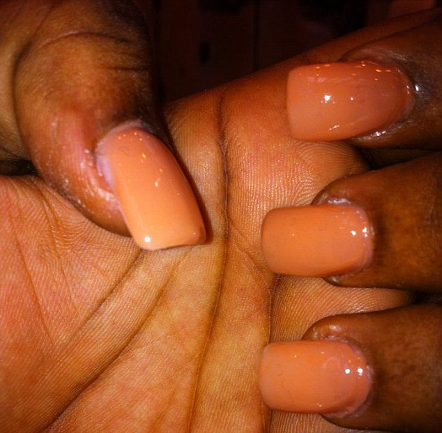 Manicure: Rachel tweeted a picture of her 'court nails' on Sunday and later deleted it, though it is still on her Facebook