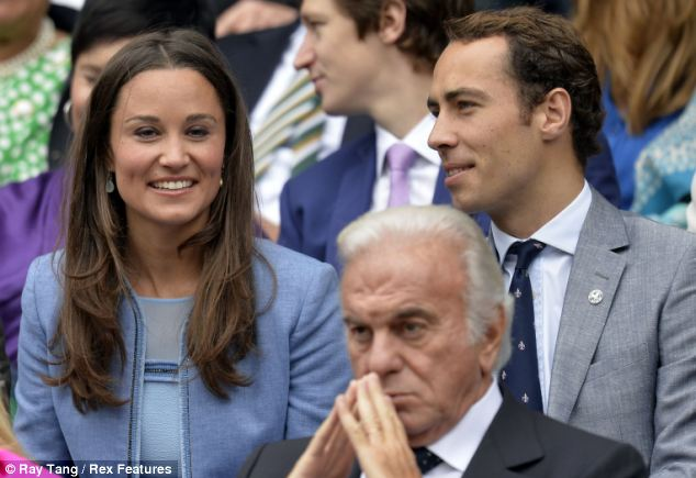 Middleton wrote about her love of 'Wimbers' in her column for The Spectator