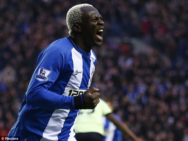 Switch: Wigan striker Arouna Kone could be on his way to Everton