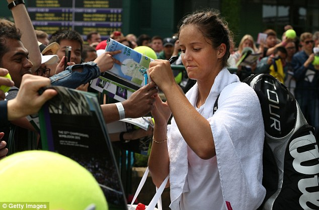 In action: Laura Robson continues her Wimbledon journey