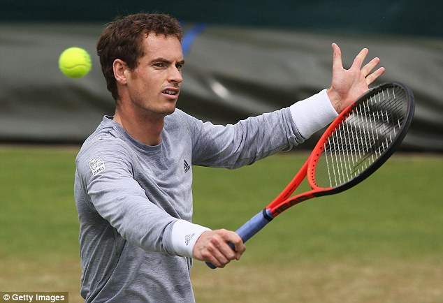Eye on the prize: Britain's Andy Murray is aiming to reach round four in the men's singles