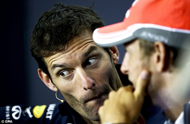 Moving on: Mark Webber has announced that he will leave Formula One at the end of the season