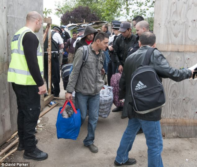 Only five were found to have the right to work in the UK and the rest were offered flights back to Romania at a cost of £50 per ticket to the taxpayer