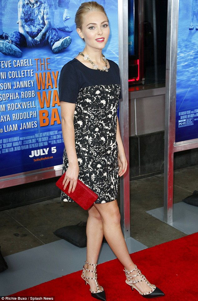Dressed to impress: AnnaSophia Robb attended The Way, Way Back premiere in New York City on Wednesday