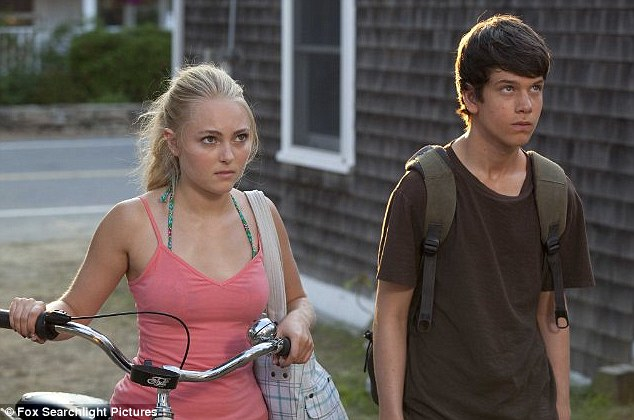 Fresh-faced: AnnaSophia Robb (with Liam James) looks very youthful in the film