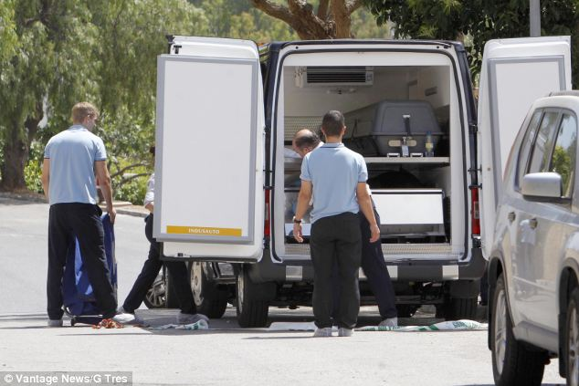 Sombre scene: Their bodies were discovered covered by a sheet in their bedrooms