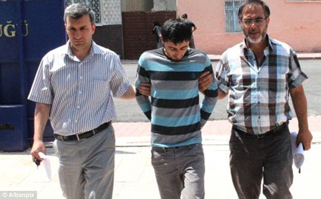 Ismail A, 24, the second suspect being questioned. He was arrested on a bus in Konya, 354 miles from Marmaris