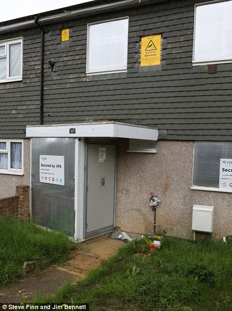 The house where 12-year-old Tia was found murdered in Croydon