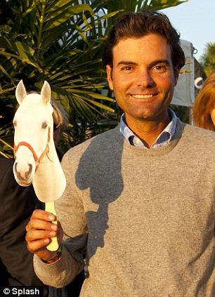 On the circuit: The father is thought to be her reported boyfriend Ramiro Quintana who is a fellow equestrian