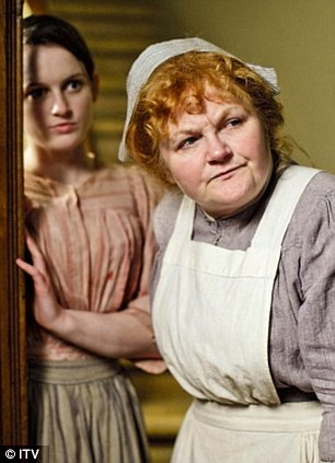 Lesley had to return to finish filming series four of Downton Abbey