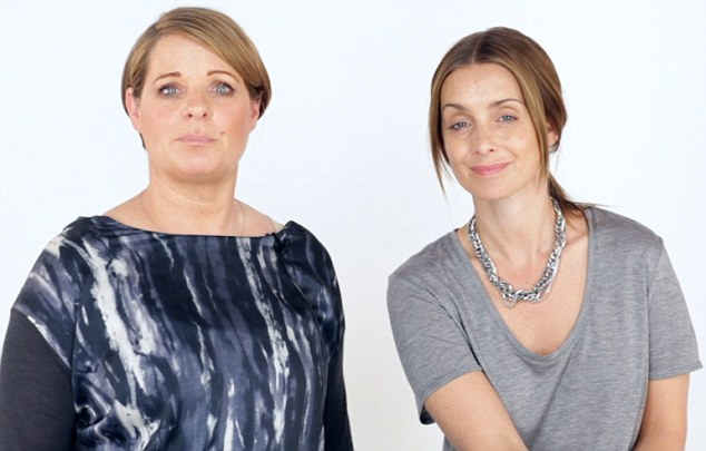 Top tips: Louise Redknapp is joined by Kim Jacob, co-founder of her beauty range, for their make-up tutorial