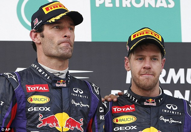 Strained relationship: Webber and Sebastian Vettel have endured a number of run-ins over the years