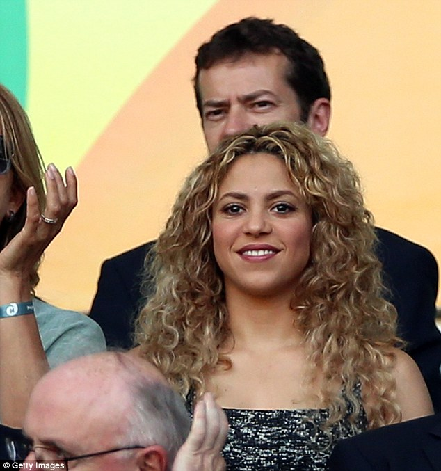 Sports stress: Despite her jovial nature, Shakira knew how important the match was