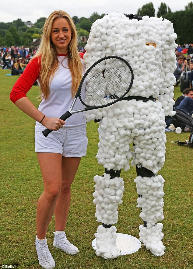 Wrap him up! Betfair commissioned this custom-made suit of cotton wool to help Andy Murray avoid injury ahead of his third round match today