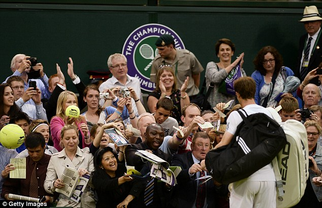 Great Scot: Andy Murray triumphed in straight sets over Tommy Robredo