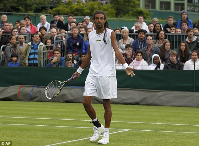 No answer: Dustin Brown (above) lost the first two sets against Adrian Mannarino