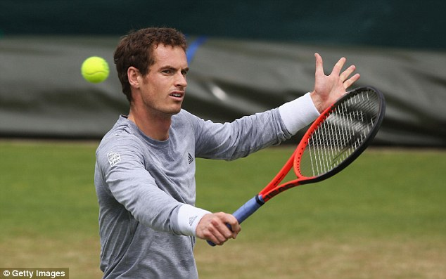 Back in action: Andy Murray will play Tommy Robredo in his third-round clash on Friday