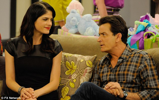 Big shoes to fill: Brian steps into the breach following Charlie Sheen's brutal sacking of Selma Blair