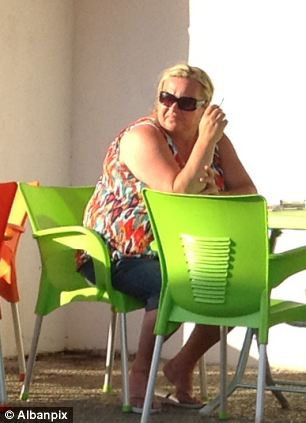 Dwayne Ward's mother outside the  Marmaris hospital where he underwent further life saving surgery today