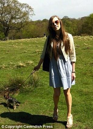 Happier times: Miss Hopwood and Daisy enjoy a stroll