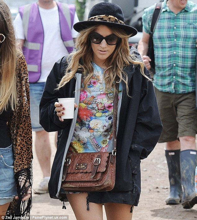 Style queen: Caroline Flack took some time off from X Factor duties to enjoy herself at the annual festivities