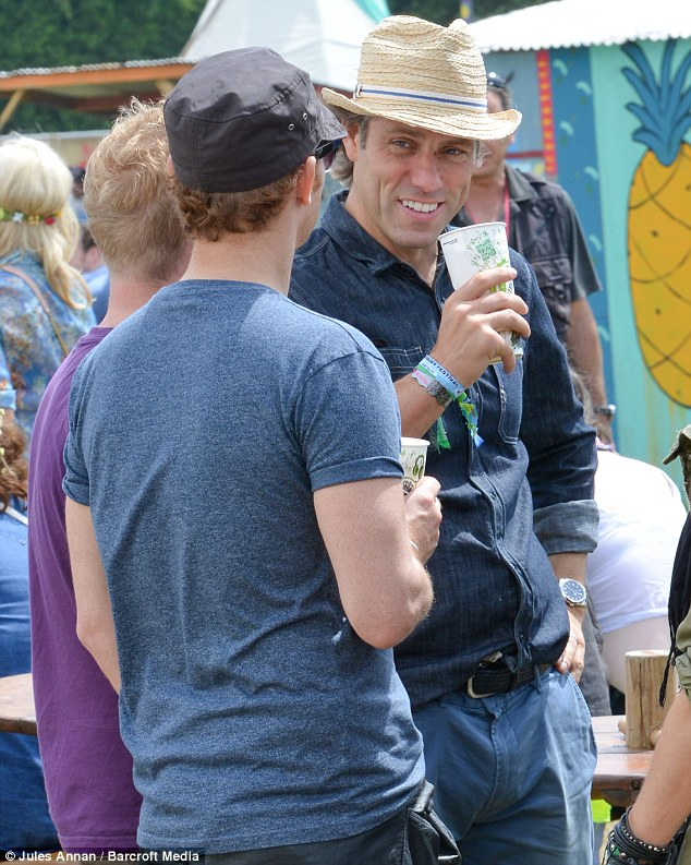 Enjoying themselves: Comedian John Bishop got involved to add to the huge list of famous faces at the festival