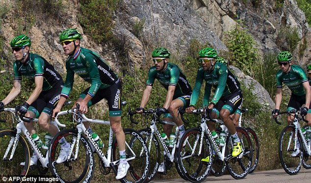 Prectice makes perfect: France's Thomas Voeckler and Pierre Rolland (left) get in form with team-mates