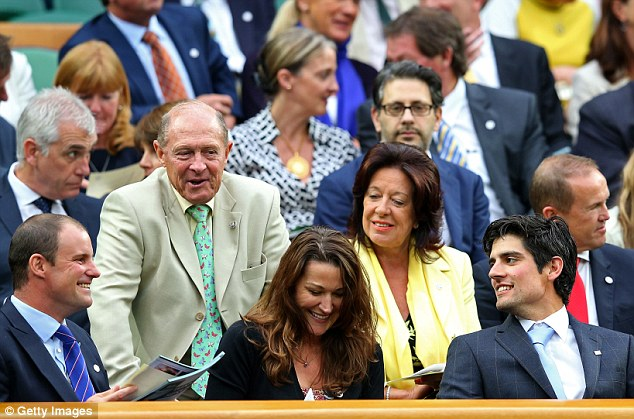 Hottest tickets in town: Football legend Sir Bobby Charlton and cricket stars Geoffrey Boycott, Andrew Strauss and Alistair Cook were in the Royal Box to see Robson's match