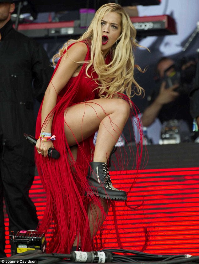 Stunner: Rita gave it her all as she made her first performance on the famous stage