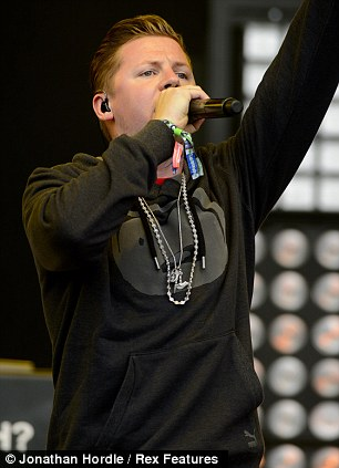 Impressive set: Professor Green stunned the crowds by giving a rendition of Daft Punk's hit of the summer Get Lucky