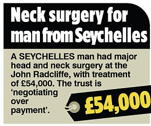 Neck surgery for man from Seychelles