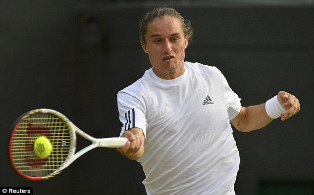 Close: Dolgopolov was at his mysterious best, but was too wayward in the last set