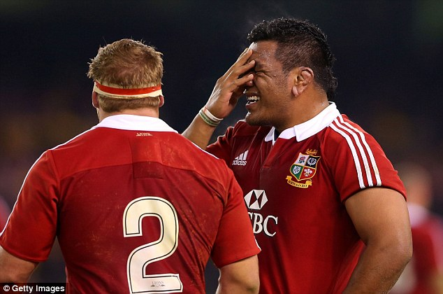 Scrum's the word: Vunipola reacts after giving away a penalty