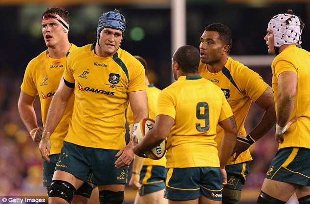 Back to the drawing board: Australia went in three points down at half-time