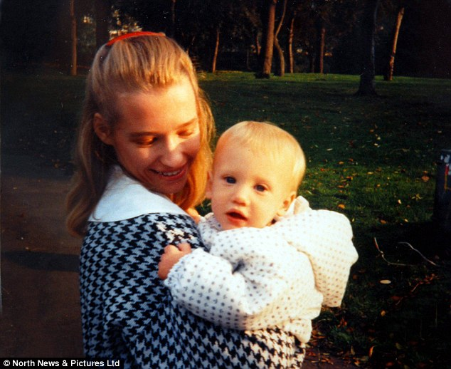 Sharon's son Edward Bernardi died last week at the age of 21, after battling the rare hereditary condition Leigh's Disease since the age of four (pictured aged one with his mother)